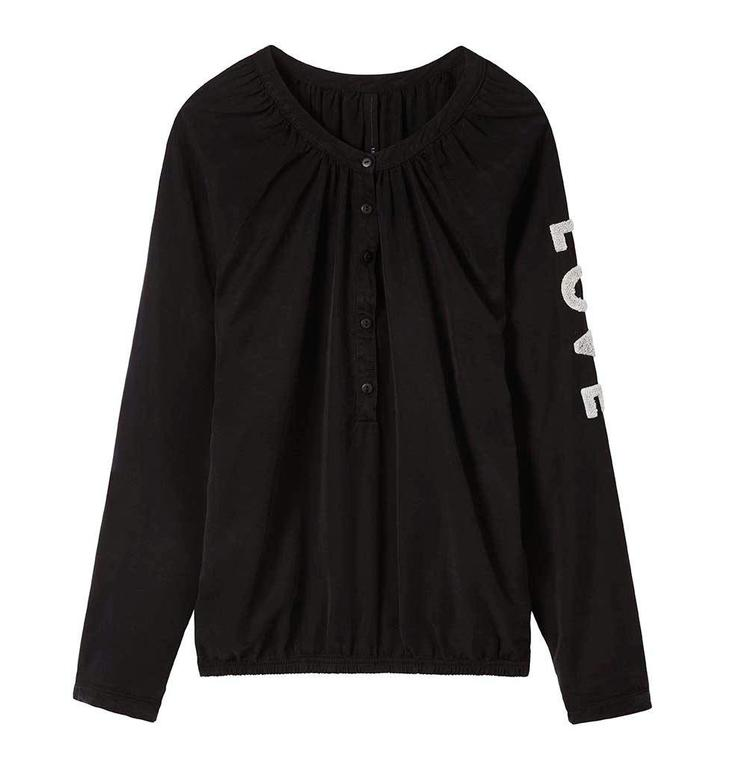 10Days Black Sporty Blouse 20.401.7104