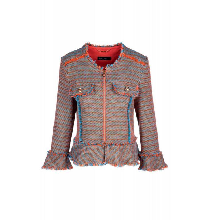 Marc Cain Collections Orange/Blue Tweed Jack KC3135