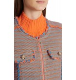 Marc Cain Collections Orange/Blue Tweed Jack KC3135