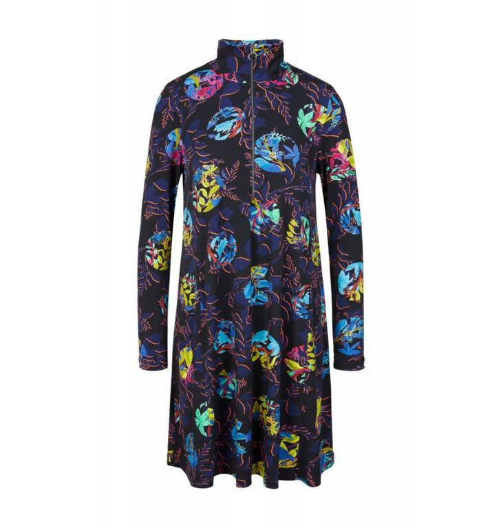 Marc Cain Collections Black/Multicolour Dress KC2129