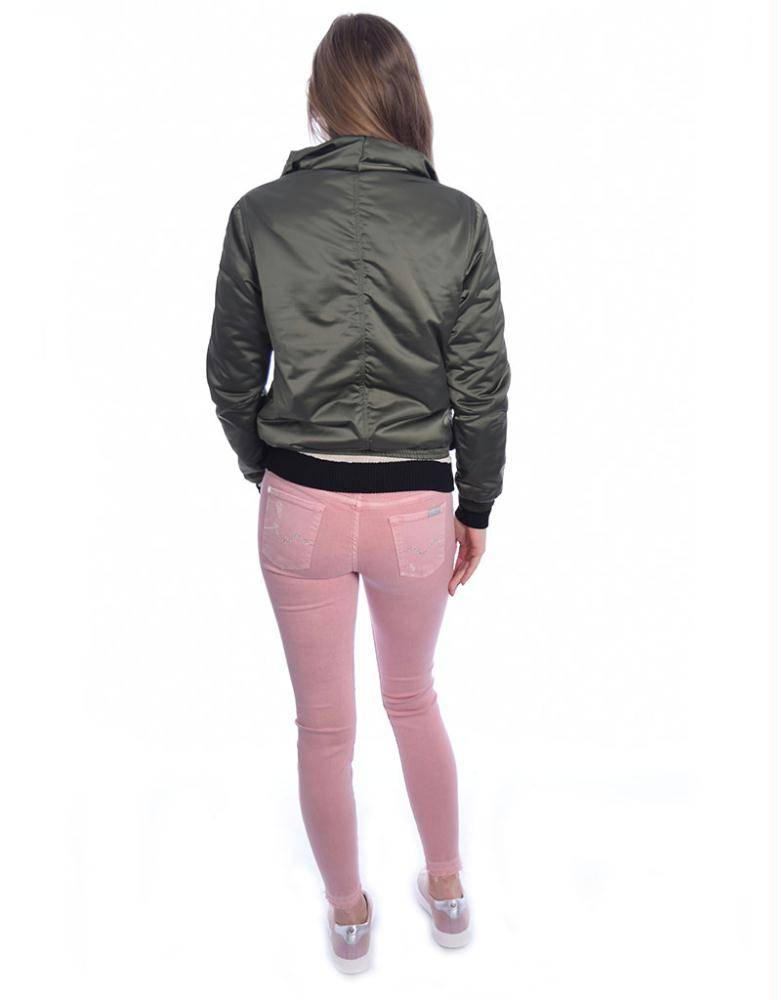 7 For All Mankind Pink The Skinny Cropped SVUM98C