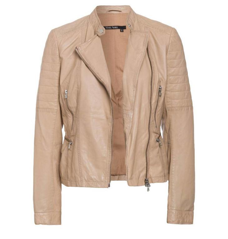 Marc Aurel Marc Aurel Yellow Leather Jacket 3457