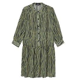 Amator Amator Green Zebra Dress Dumont