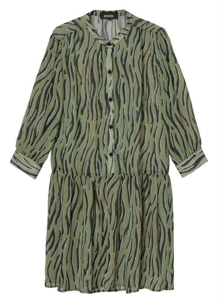 Amator Green Zebra Dress Dumont