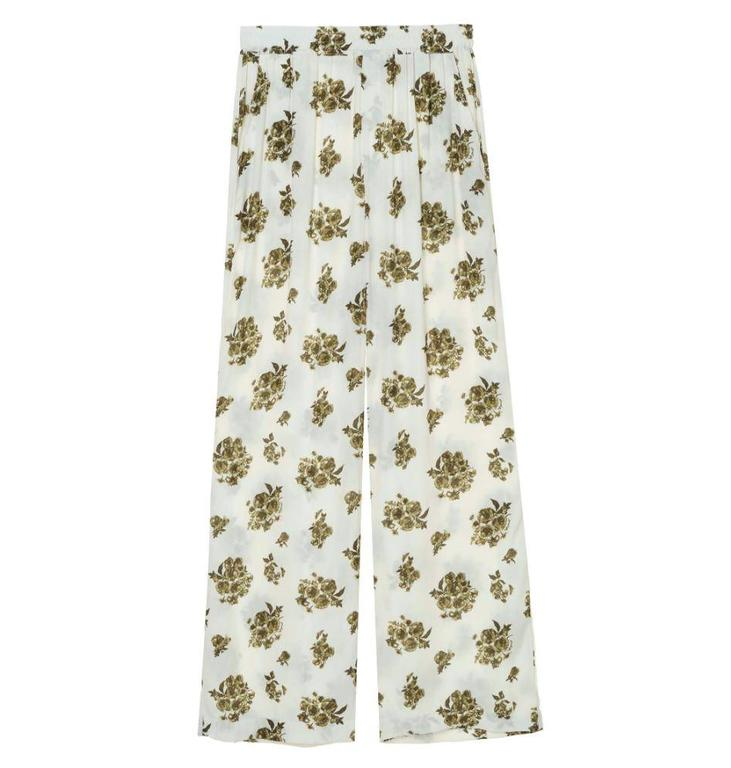 Amator Amator Soft White Flower Pants Torres