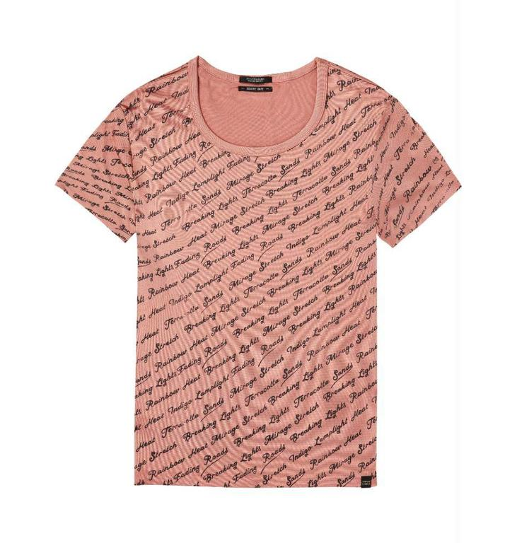 Maison Scotch Maison Scotch Pink Relaxed Fit Tee 143751