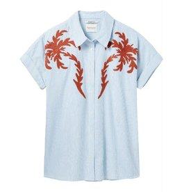 Maison Scotch Maison Scotch Blue SS Boxy Fit Shirt 143411