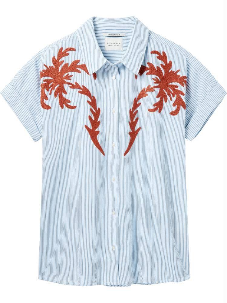 Maison Scotch Blue SS Boxy Fit Shirt 143411