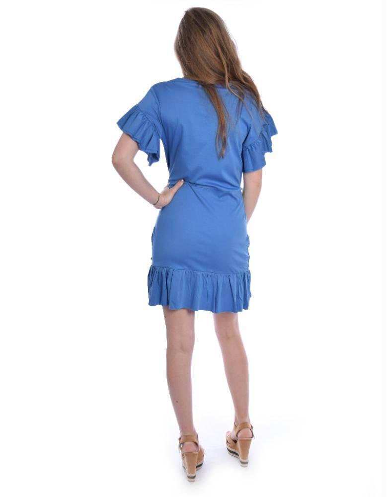 Maison Scotch Blue Jersey Dress 143486