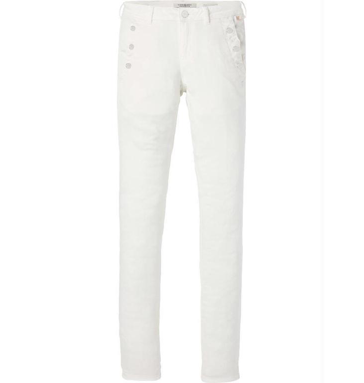 Maison Scotch Maison Scotch White Skinny Fit Pants 143515