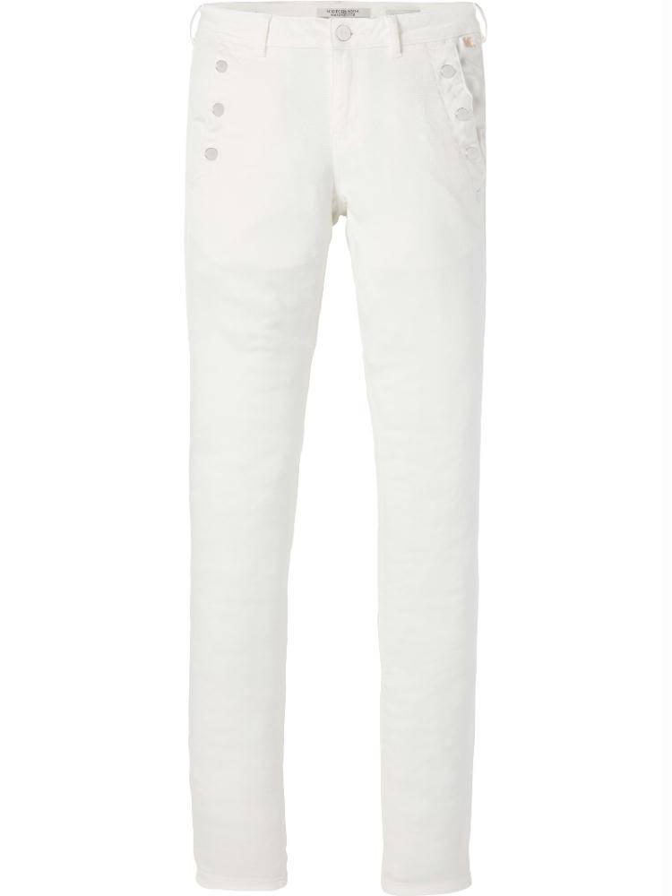 Maison Scotch White Skinny Fit Pants 143515