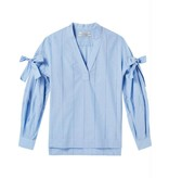 Maison Scotch Blue V-neck Cotton Top 144009