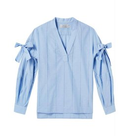 Maison Scotch Maison Scotch Blue V-neck Cotton Top 144009