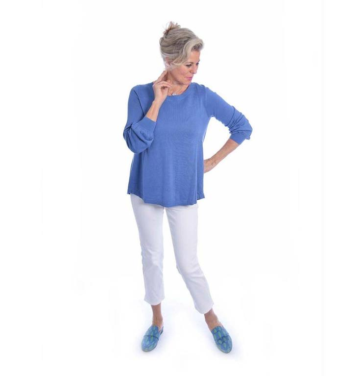 Repeat Repeat Blue Blouse 400044