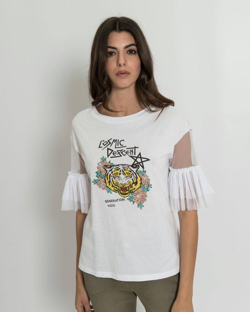 Silvian Heach White T-shirt Quilombo 18318TS