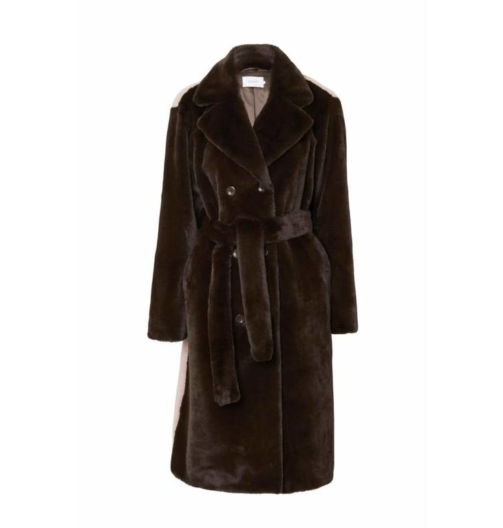 Stand Stand Brown Faustine Coat Pink Back 60529/8780
