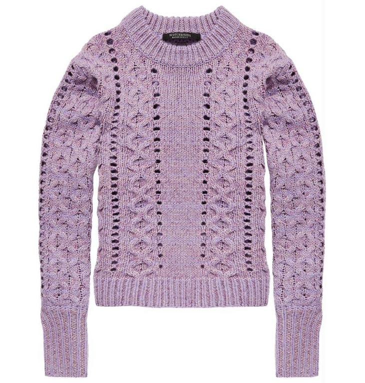 Maison Scotch Maison Scotch Purple Crew Neck Knit 146565