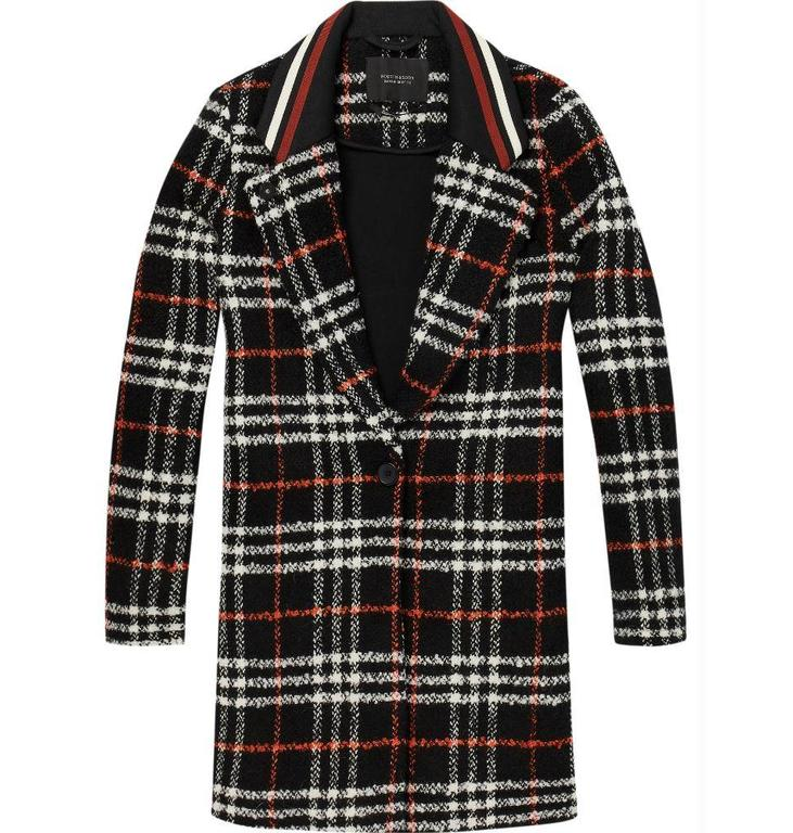 Maison Scotch Maison Scotch Checked Bonded Wool Jacket 146199