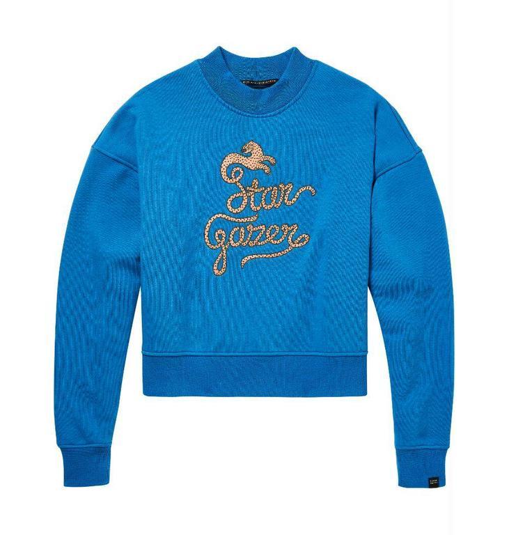 Maison Scotch Maison Scotch Blue Boxy Fit Sweater 146373