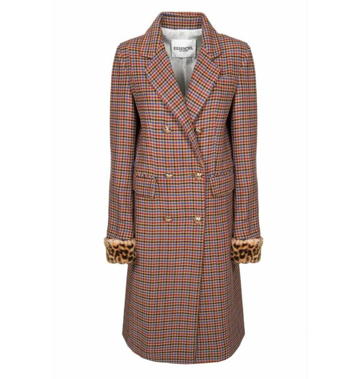 Essentiel Antwerp Essentiel Antwerp Plaid Coat Rolly