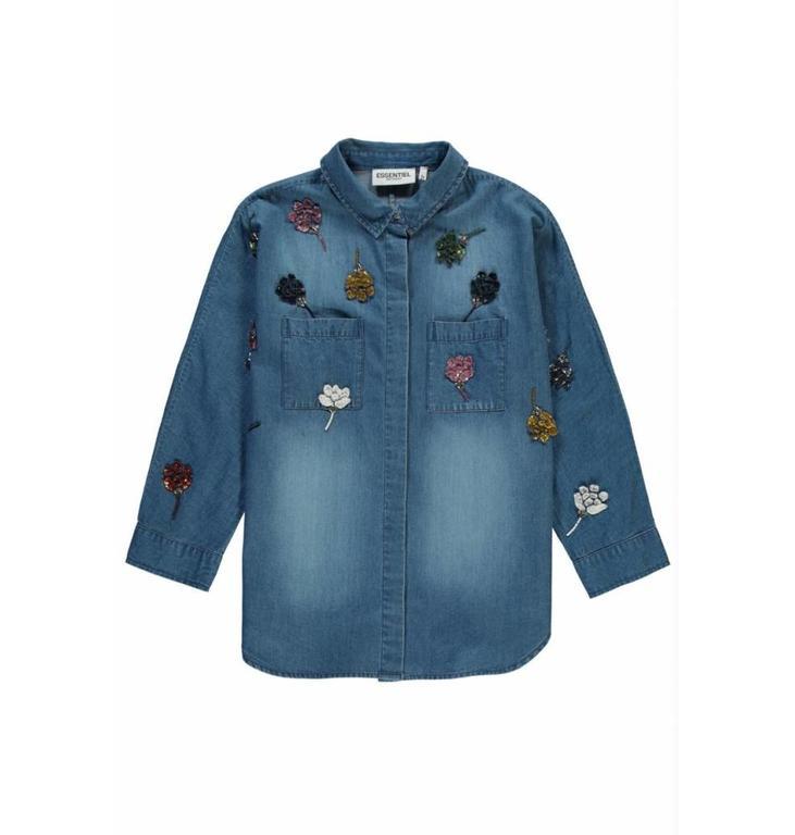 Essentiel Antwerp Essentiel Antwerp Blue Jeans Blouse Rembo