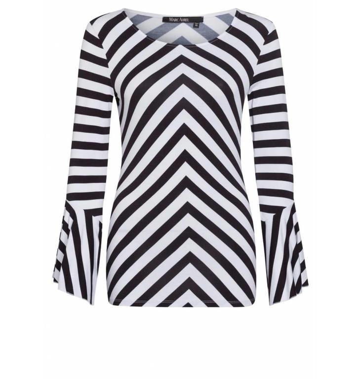 Marc Aurel Marc Aurel Black/White Streep Shirt 7713