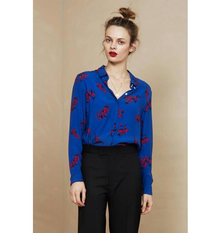 Fabienne Chapot Fabienne Chapot Blue Print Perfect Blouse