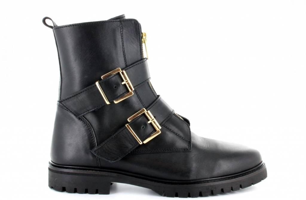 Tango Shoes Black Biker Zipper Bee 75