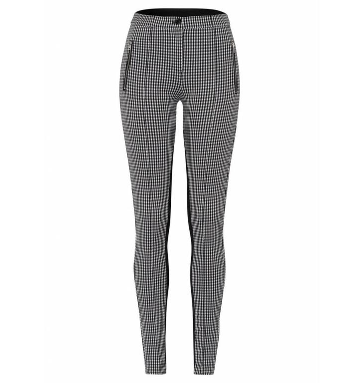 Marc Aurel Marc Aurel Black/White Check Pants 1378