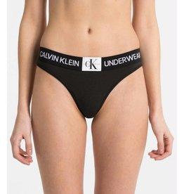 Calvin Klein Calvin Klein Black Thong 000QF4920E
