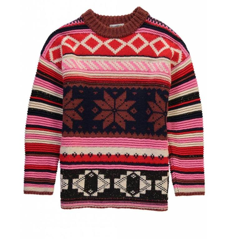 Essentiel Antwerp Essentiel Antwerp Multicolour Knitted Wool Sweater Ragusa