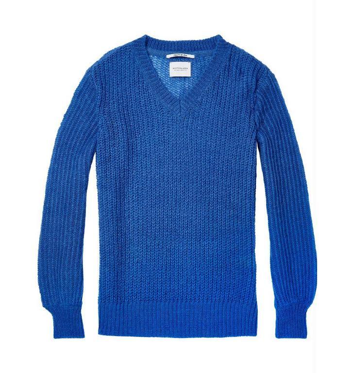 Maison Scotch Maison Scotch Blue V-neck Knit 148431