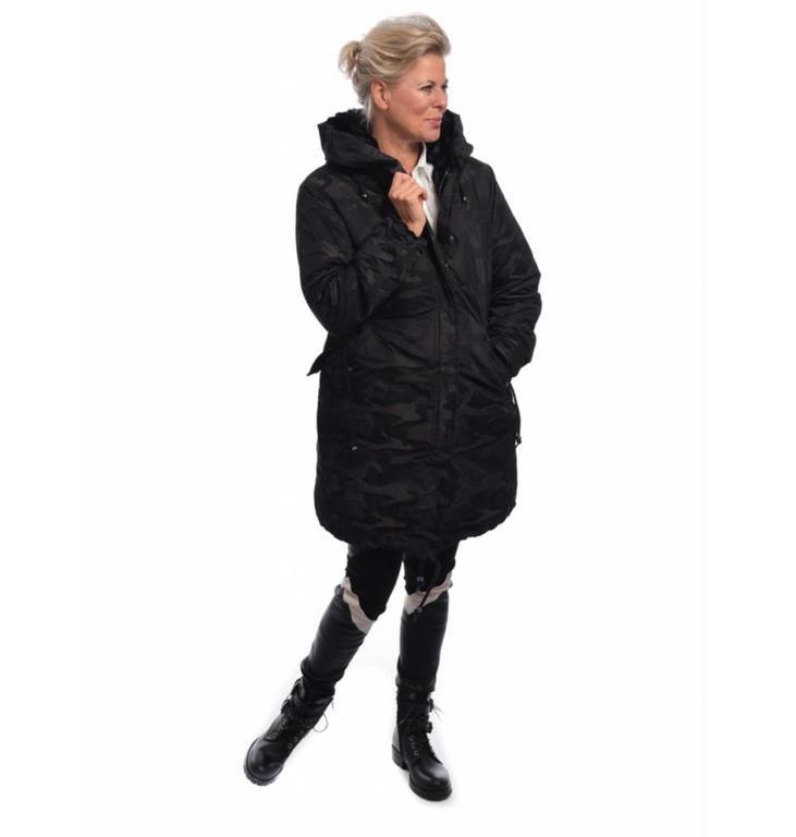 Marc Aurel Marc Aurel Camoflage Black Coat 5353