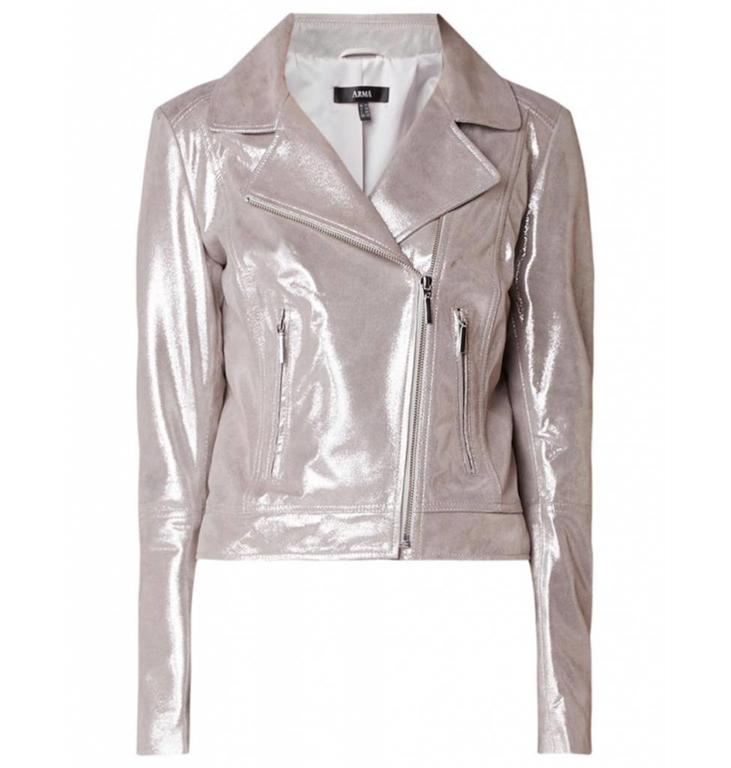 Arma Arma Silver Leather Jacket Katherine