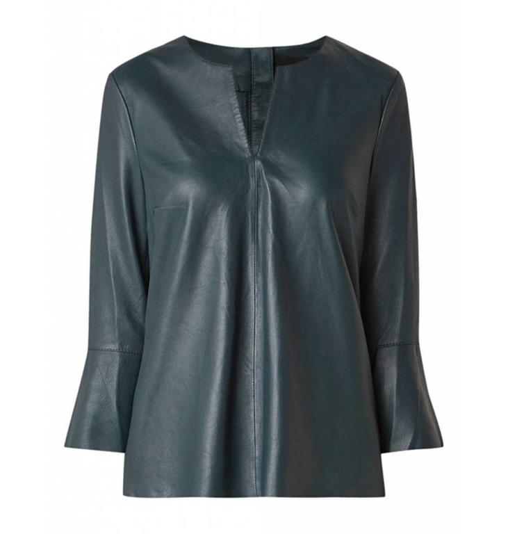 Arma Arma Petrol Leather Blouse Carol