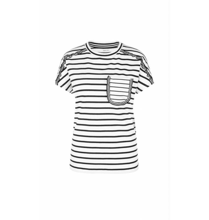 Marc Cain Collections Marc Cain Collections Black/White T-shirt LC4839