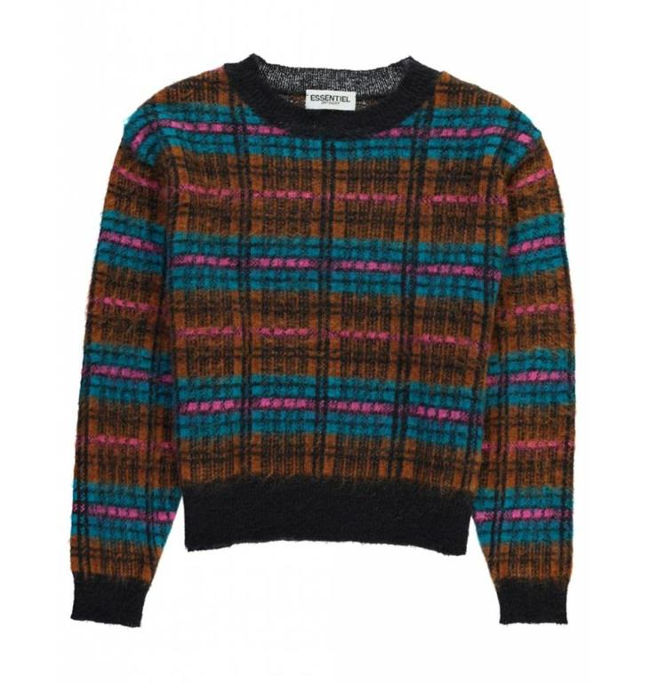 Essentiel Antwerp Essentiel Antwerp Plaid Knitted Sweater Sicile