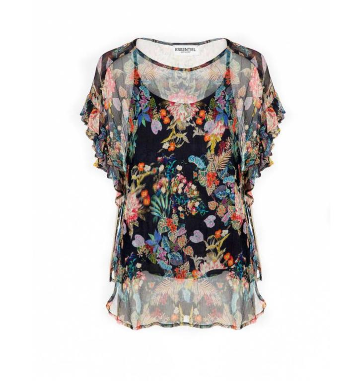 Essentiel Antwerp Essentiel Antwerp Black Floral Top Subtila