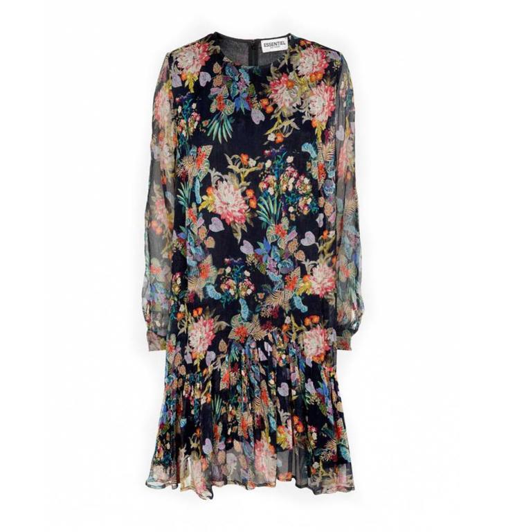 Essentiel Antwerp Essentiel Antwerp Black Floral Dress Shambles