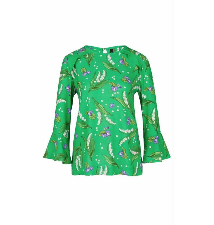 Marc Cain Marc Cain Green Printed Blouse LC5128