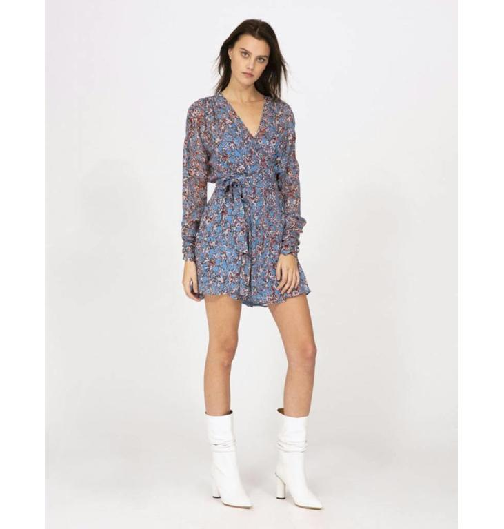 IRO IRO Blue Short Dress Bustle