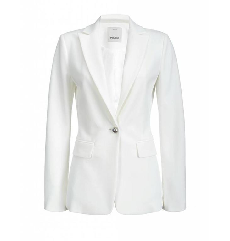 Pinko Pinko White Blazer Signum6