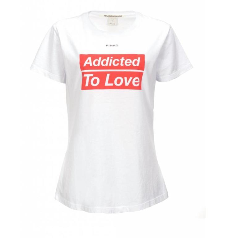 Pinko Pinko White T-shirt Spontaneo