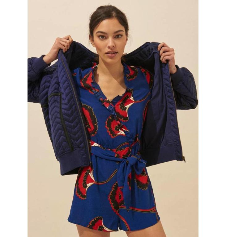 Ba&sh Ba&sh Blue Playsuit Louna