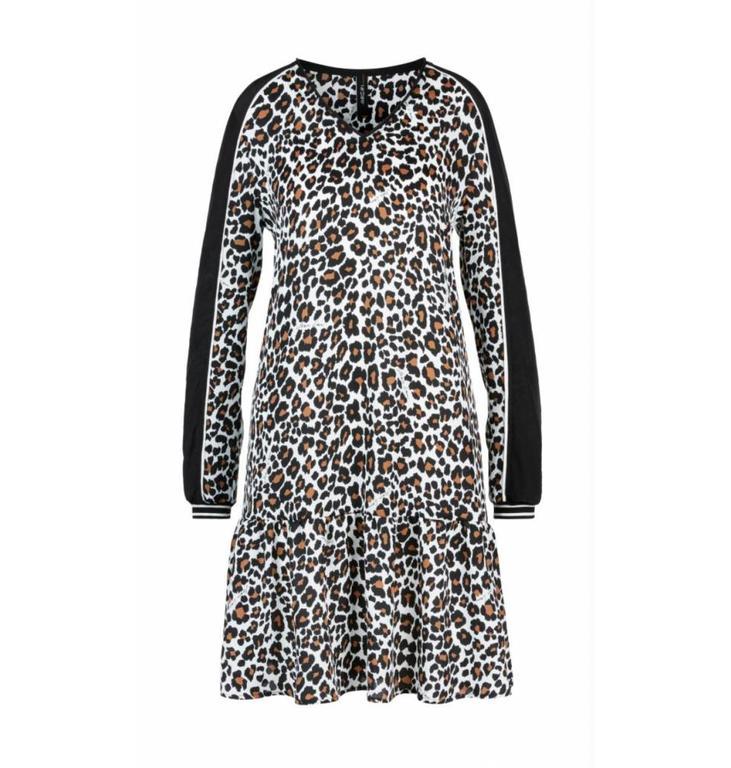 Marc Cain Marc Cain Leopard Crepe Dress LS2112