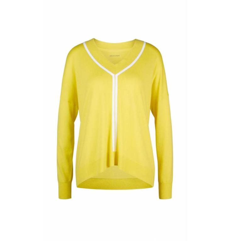 Marc Cain Marc Cain Yellow Sweater LS4102