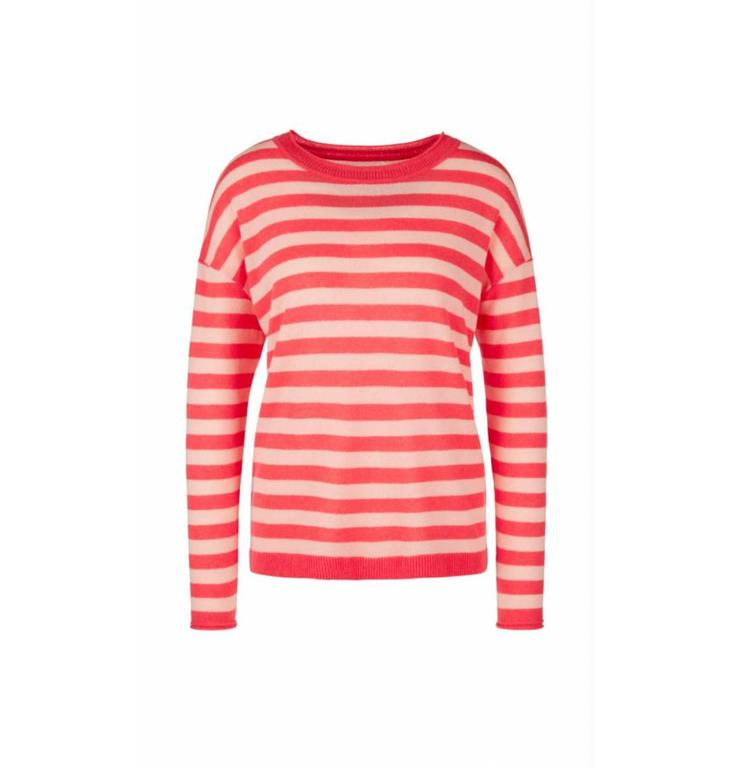 Marc Cain Marc Cain Striped Red Sweater LC4133