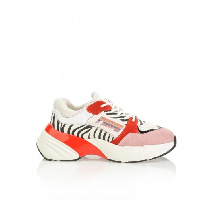 Pinko Pinko Soft White/Red Sneaker Ametista