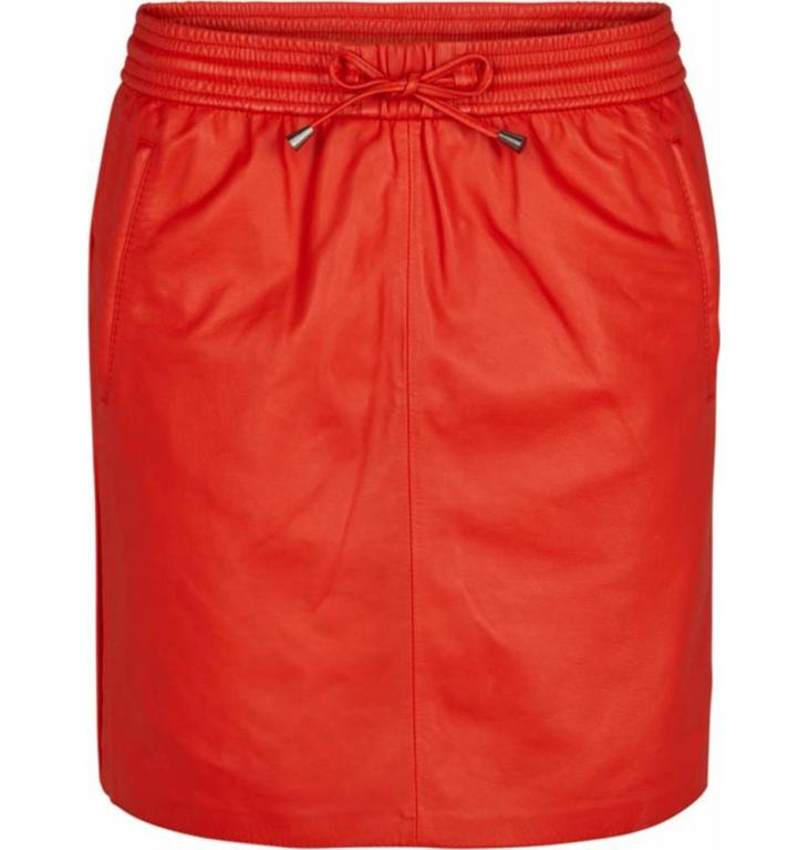 Second Female Second Female Red Leather Skirt Ivana