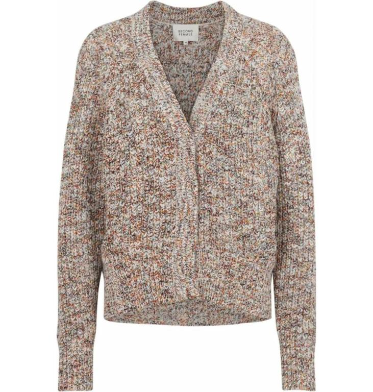 Second Female Second Female Beige Knitted Cardigan Agnete